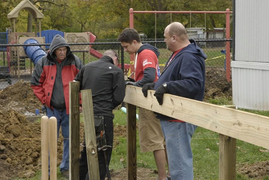 Lowe's donates labor, materials for Wayne school project