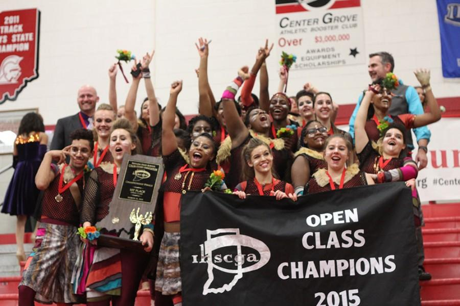 Winter guard repeats as state champs