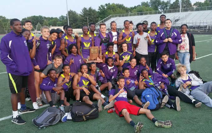Boys win 11th straight track sectional