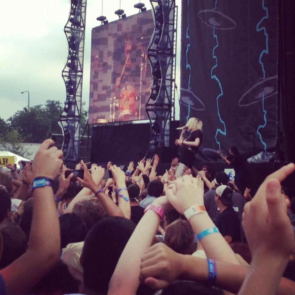 Crowd picture of Crystal Castles performance.