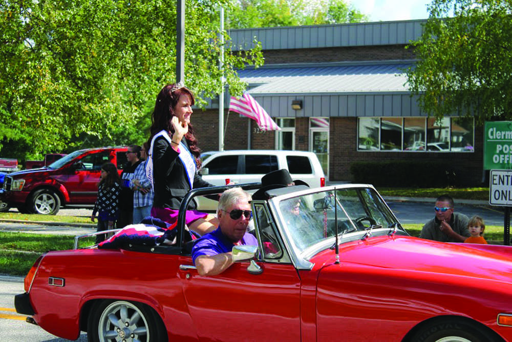 Former BD student Heather Cole rides in the Clermont Parade Saturday.