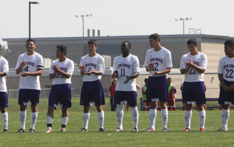 The boys soccer team prepares to take on Southport.