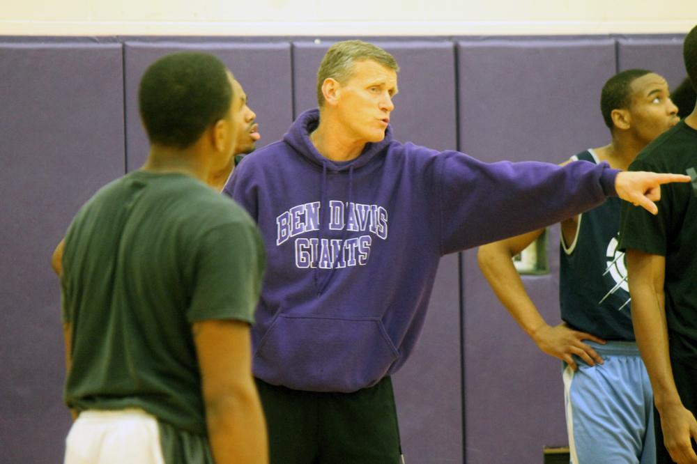 Coach Mark James directs his players during a practice this week. The Giants open the season Saturday at Northwest.