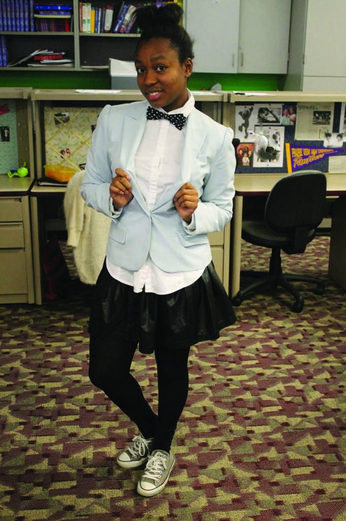 Junior Gabby West rocks an 80s layered look!
