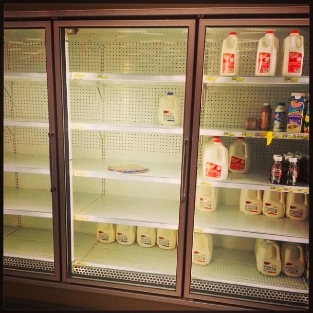 "@legitosity: ""Hope you guys got enough milk for this snowstorm."""