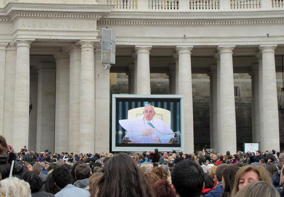 Pope Francis greets followers on St. Peters Square in the Vatican. Even as his first year anniversary approaches, Vatican watchers have dubbed his papacy The Francis Revolution.