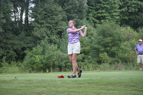 Senior Ellie Neff led the girls golf team in scoring average last season.