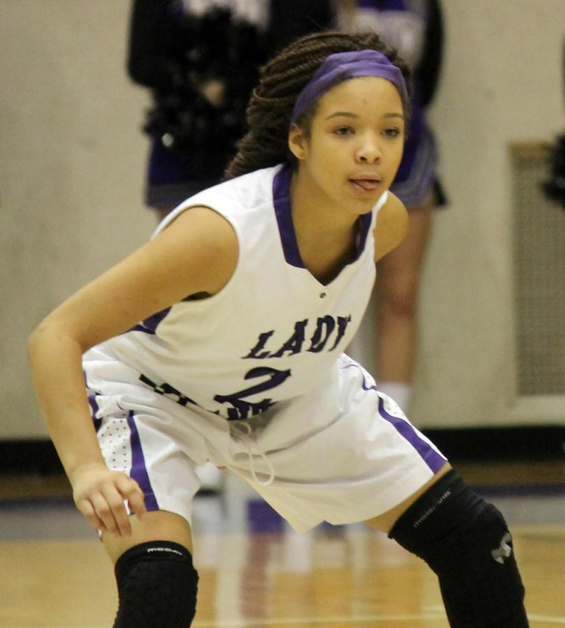Freshman Mikia Keith plays solid defense during Thursday's 50-28 win over Avon.