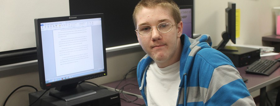 Sophomore Jonathan Morris has recouped five credits this semester to get back on track to graduate on time.