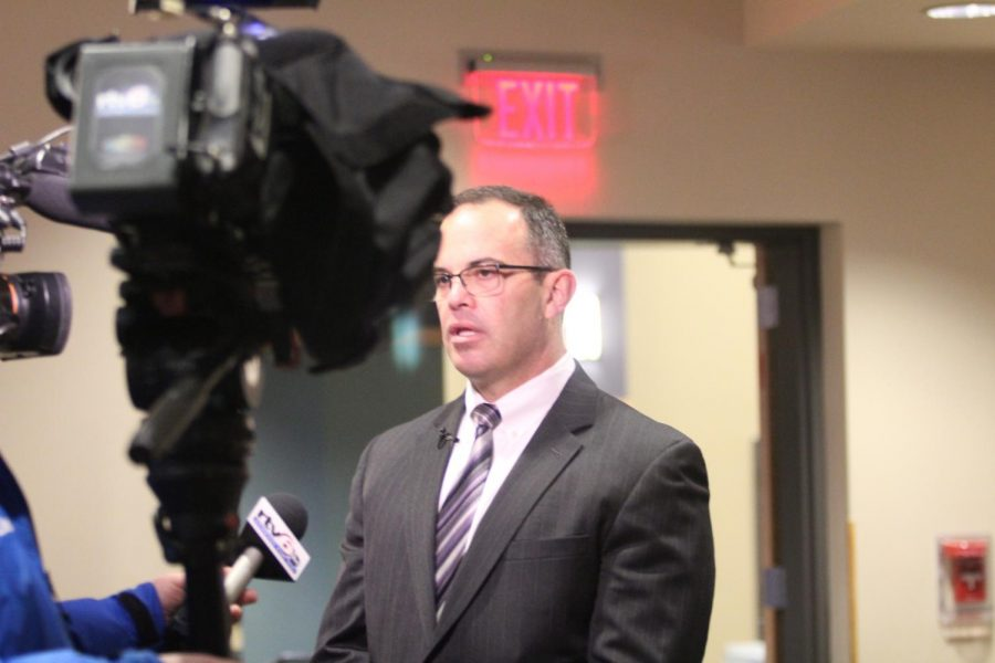 Dr. Jeff Butts  is interviewed on TV about the proposed tax referendum in Wayne Township