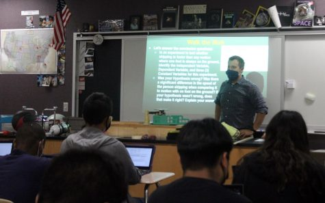 Science teacher Joseph Cardoza is passionate about talking about climate change.